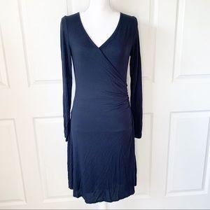 Prana Size S Black Modal Spandex Wrap Style Dress